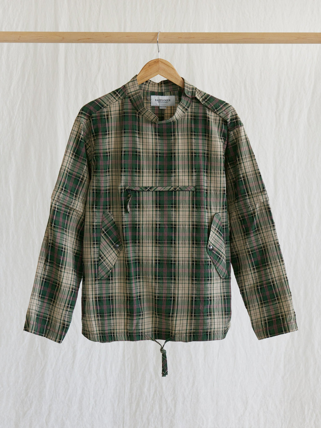 Namu Shop - Eastlogue Smock Shirt - Green Multi Check