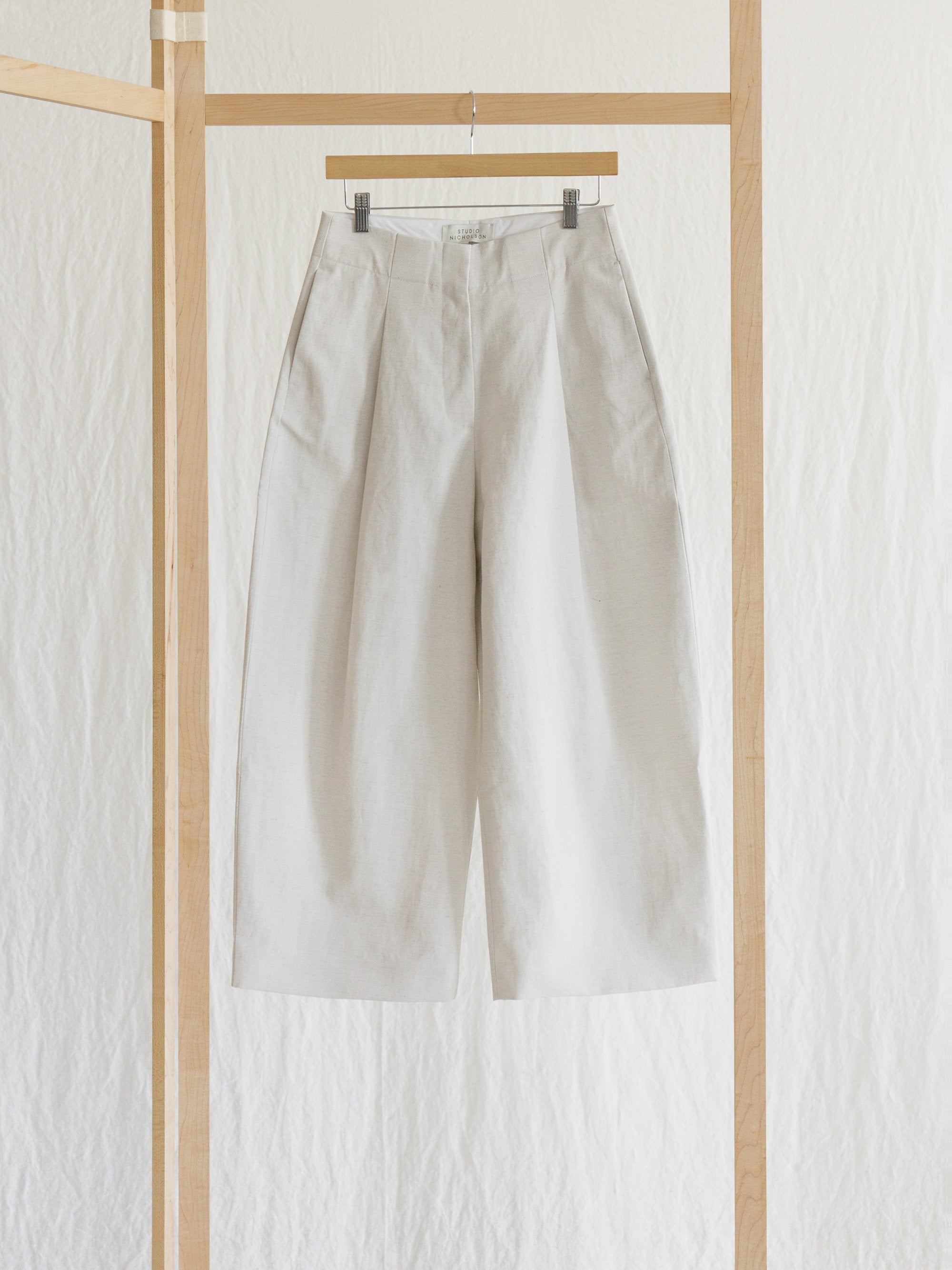 Namu Shop - Studio Nicholson Dordoni Volume Pleat Pants - Neutral