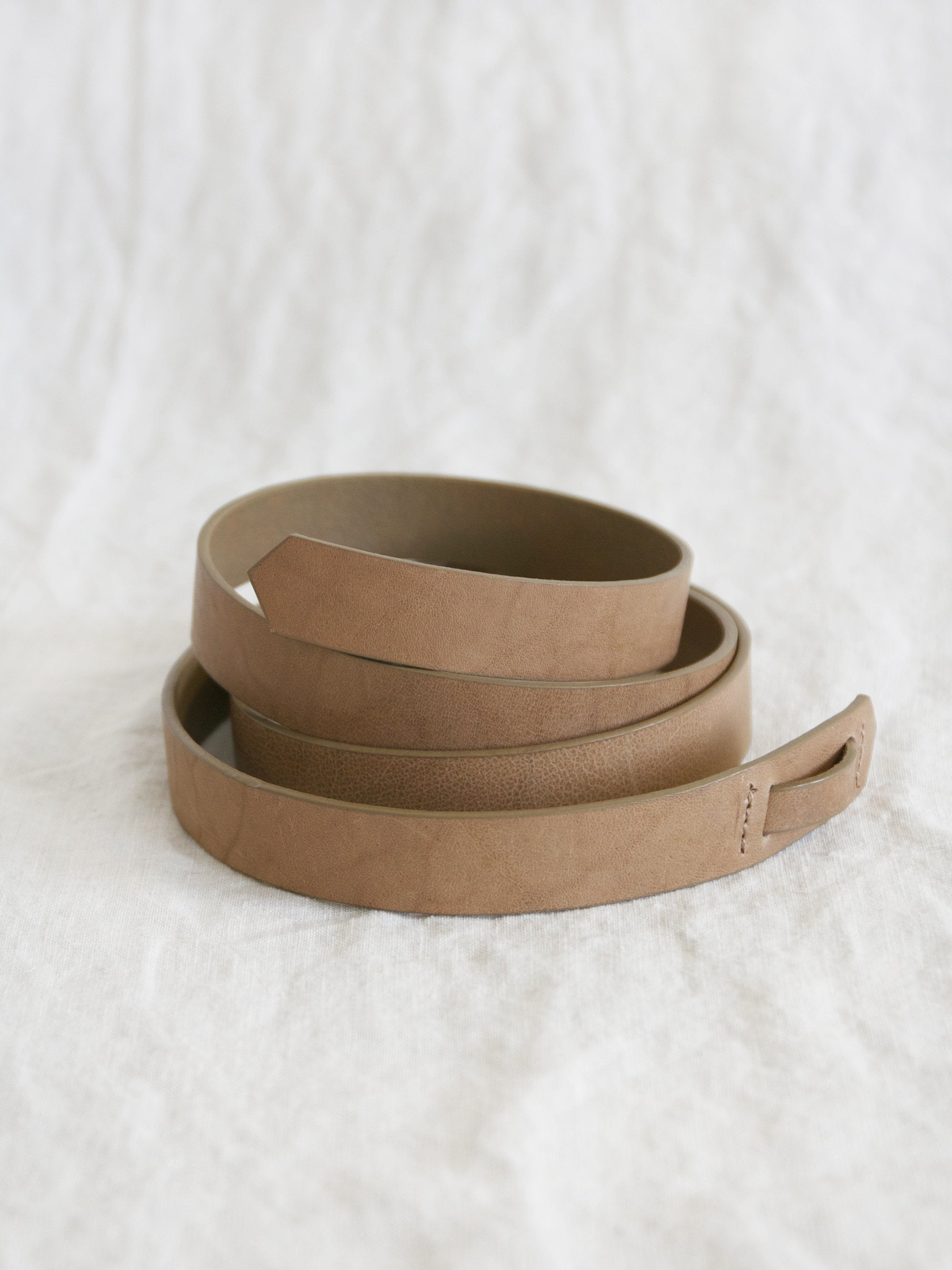 Namu Shop - Phlannel Buckleless Leather Belt - Ocher