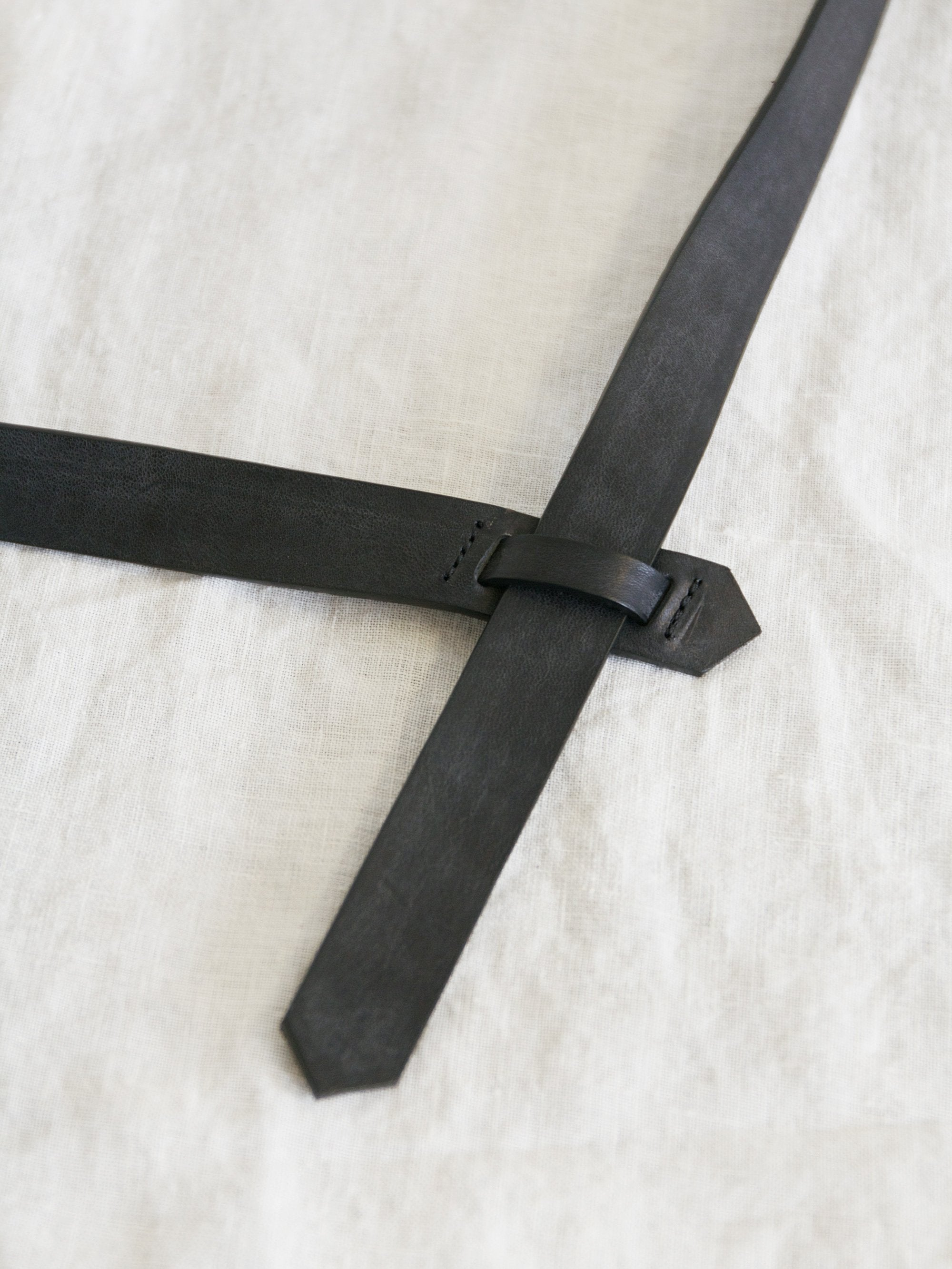 Namu Shop - Phlannel Buckleless Leather Belt - Black