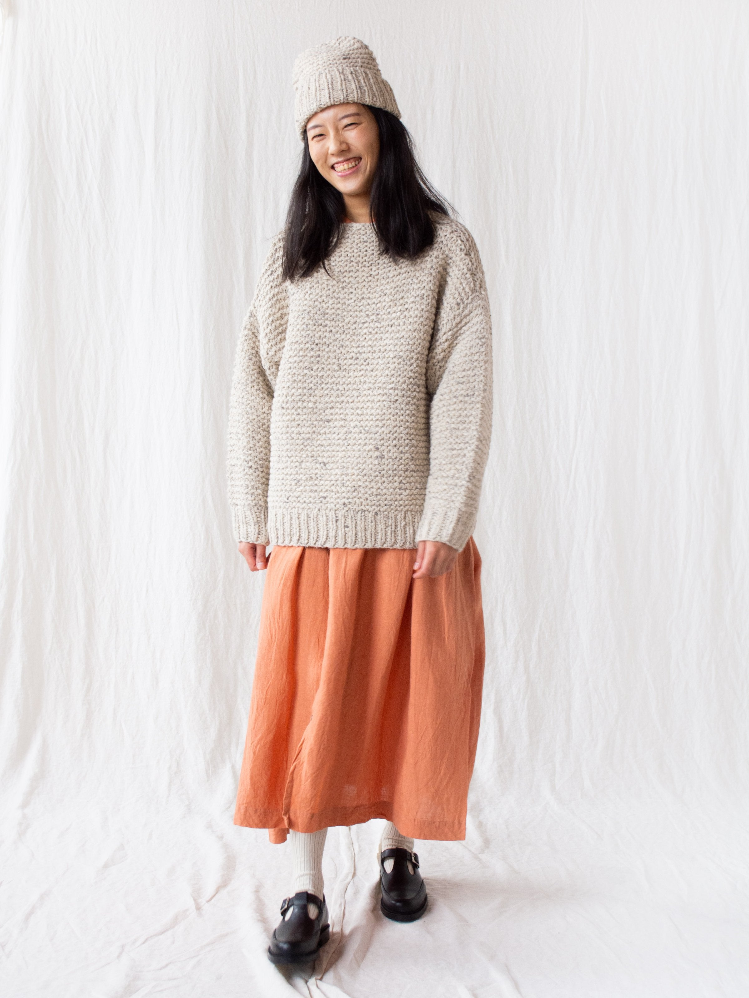 Namu Shop - Ichi Antiquites Wool Angora Knit - Natural
