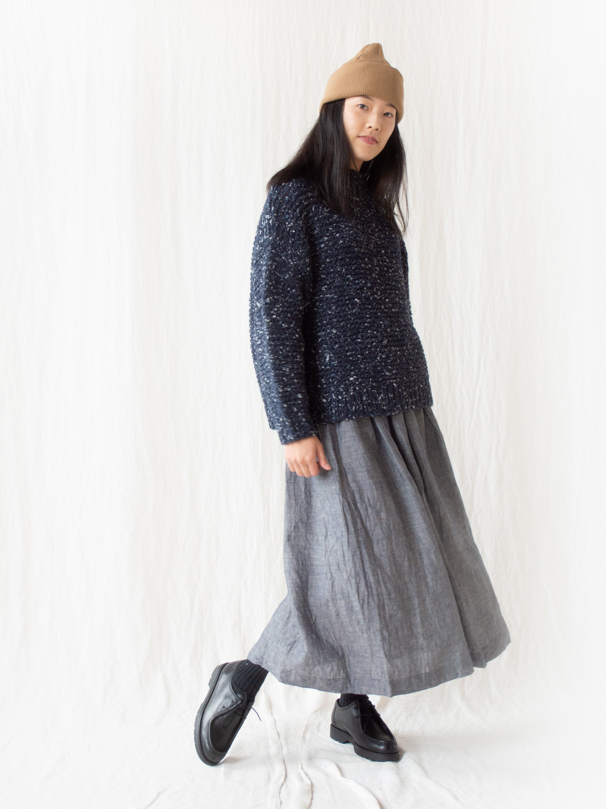 Namu Shop - Ichi Antiquites Wool Angora Knit - Navy
