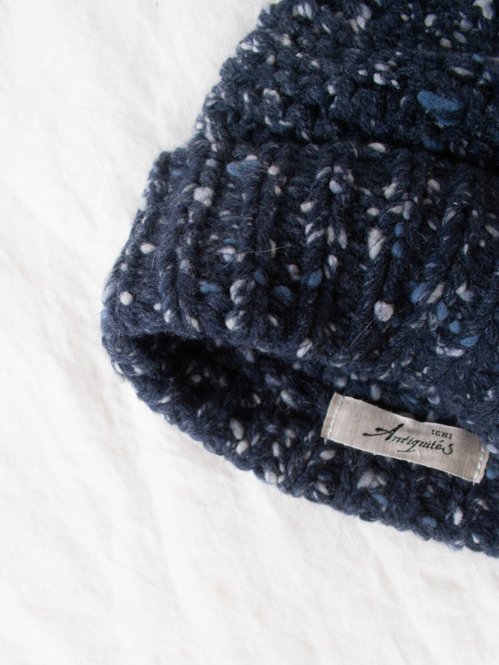 Namu Shop - Ichi Antiquites Wool Angora Cap - Navy