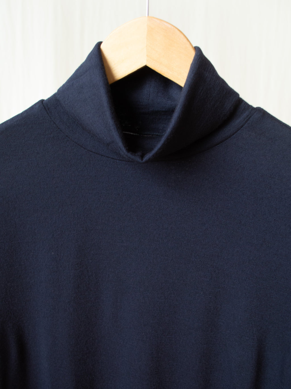 Washable High Gauge Wool Turtleneck - Navy