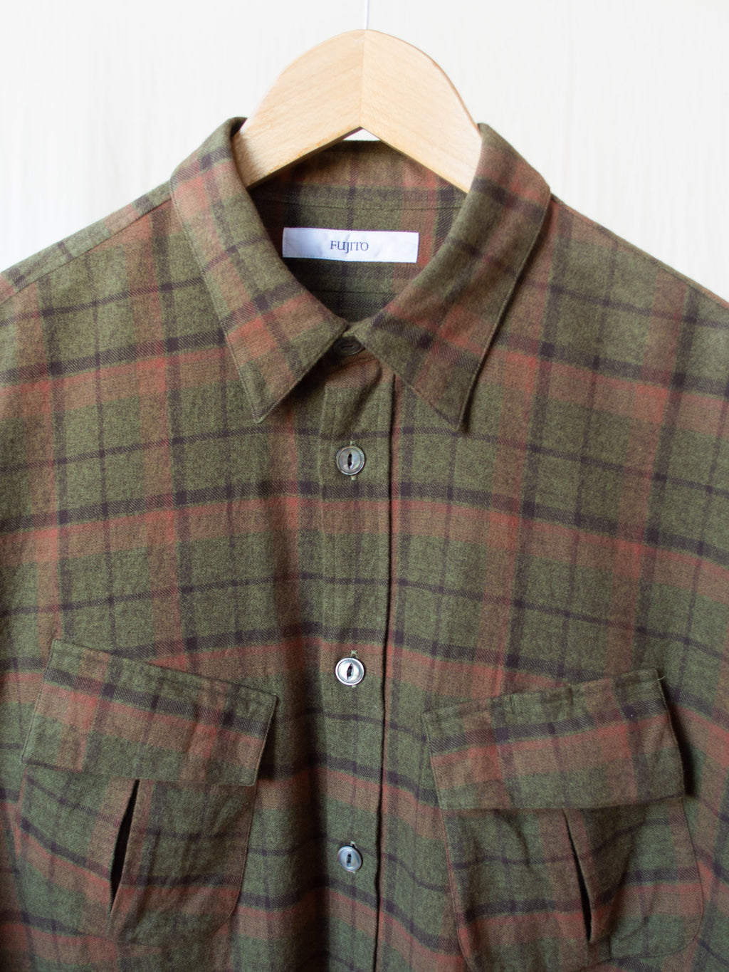 Namu Shop - Fujito Fatigue Shirt - Olive Check