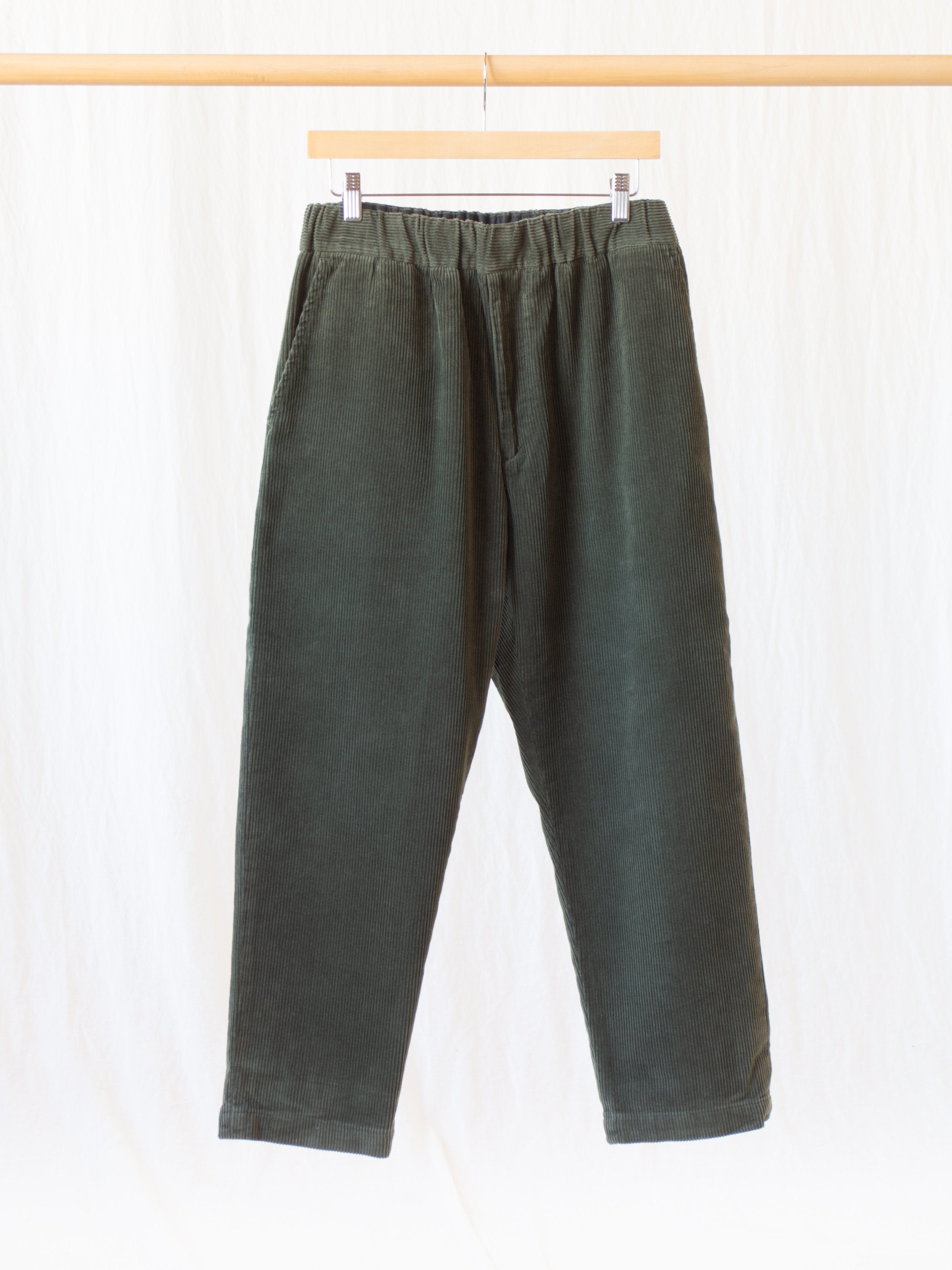 Namu Shop - Fujito Corduroy Easy Pants - Olive