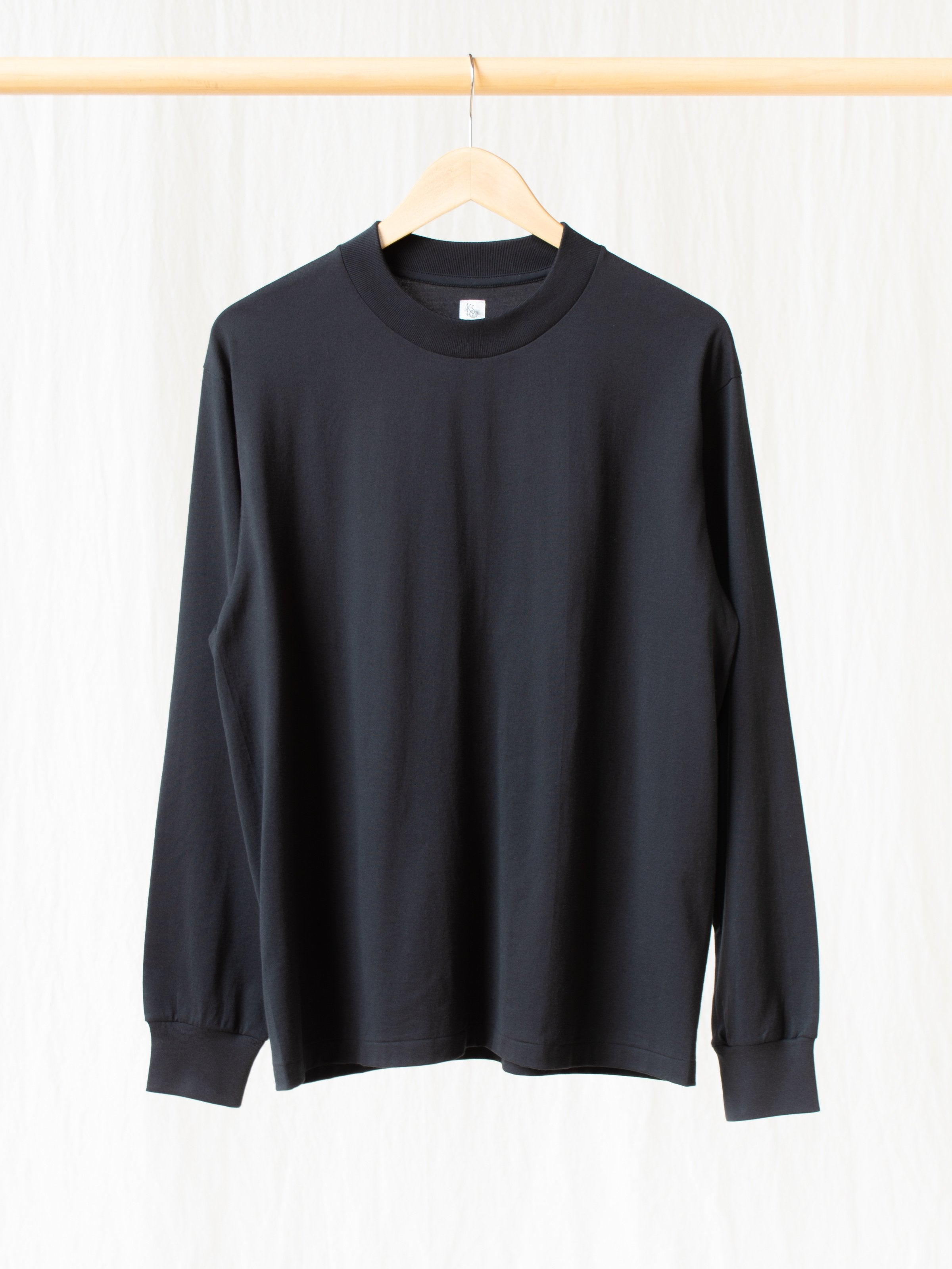 Namu Shop - Kaptain Sunshine Suvin Supima Crewneck Tube L/S Tee - Black