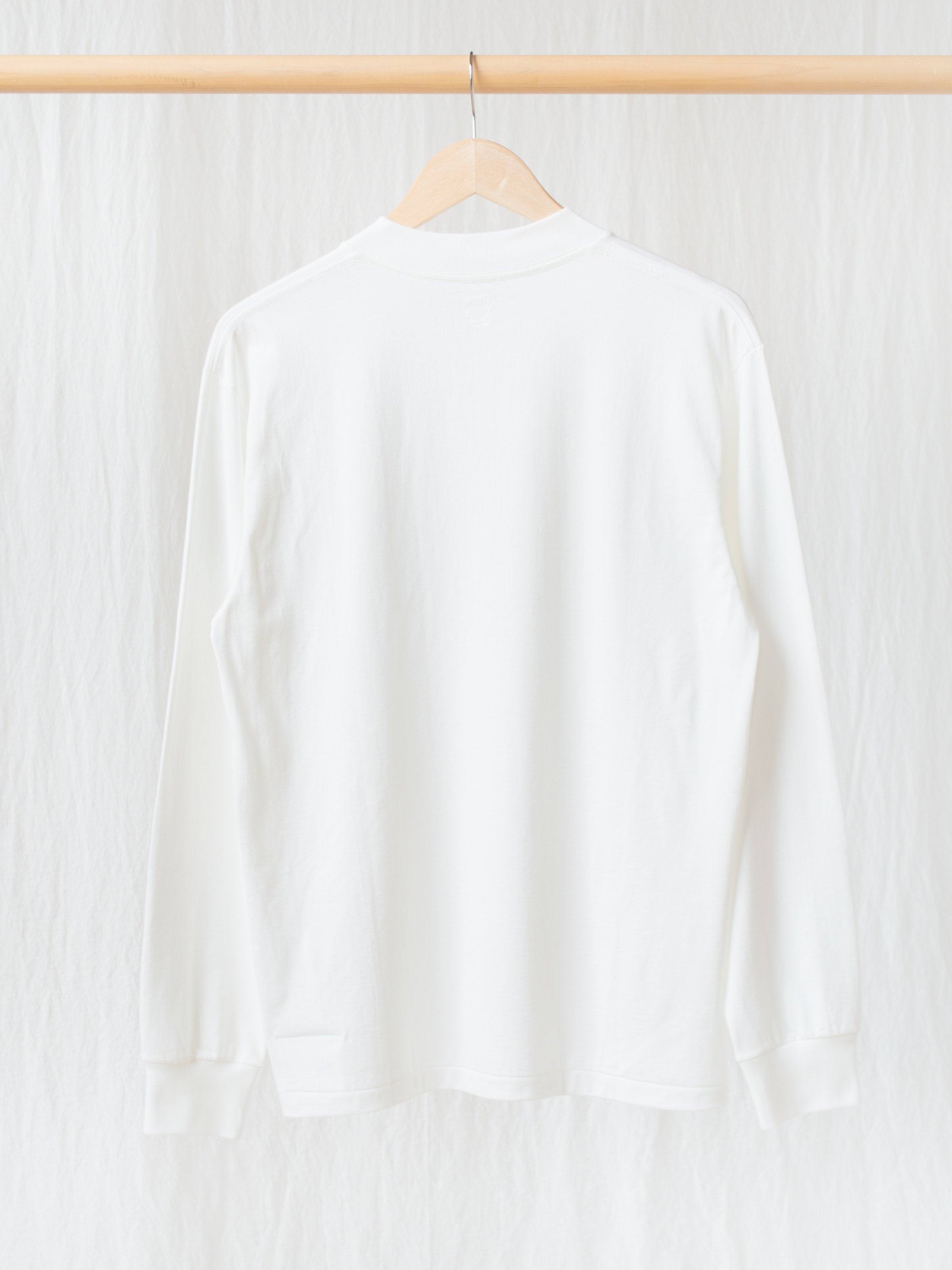 Namu Shop - Kaptain Sunshine Suvin Supima Crewneck Tube L/S Tee - White