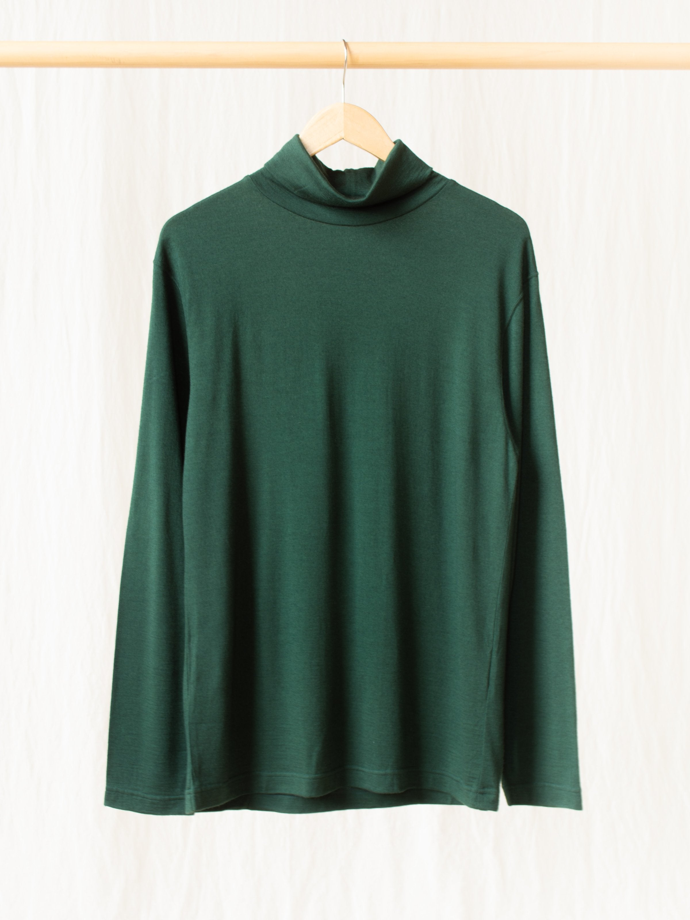 Namu Shop - ts(s) Washable High Gauge Wool Turtleneck - Green