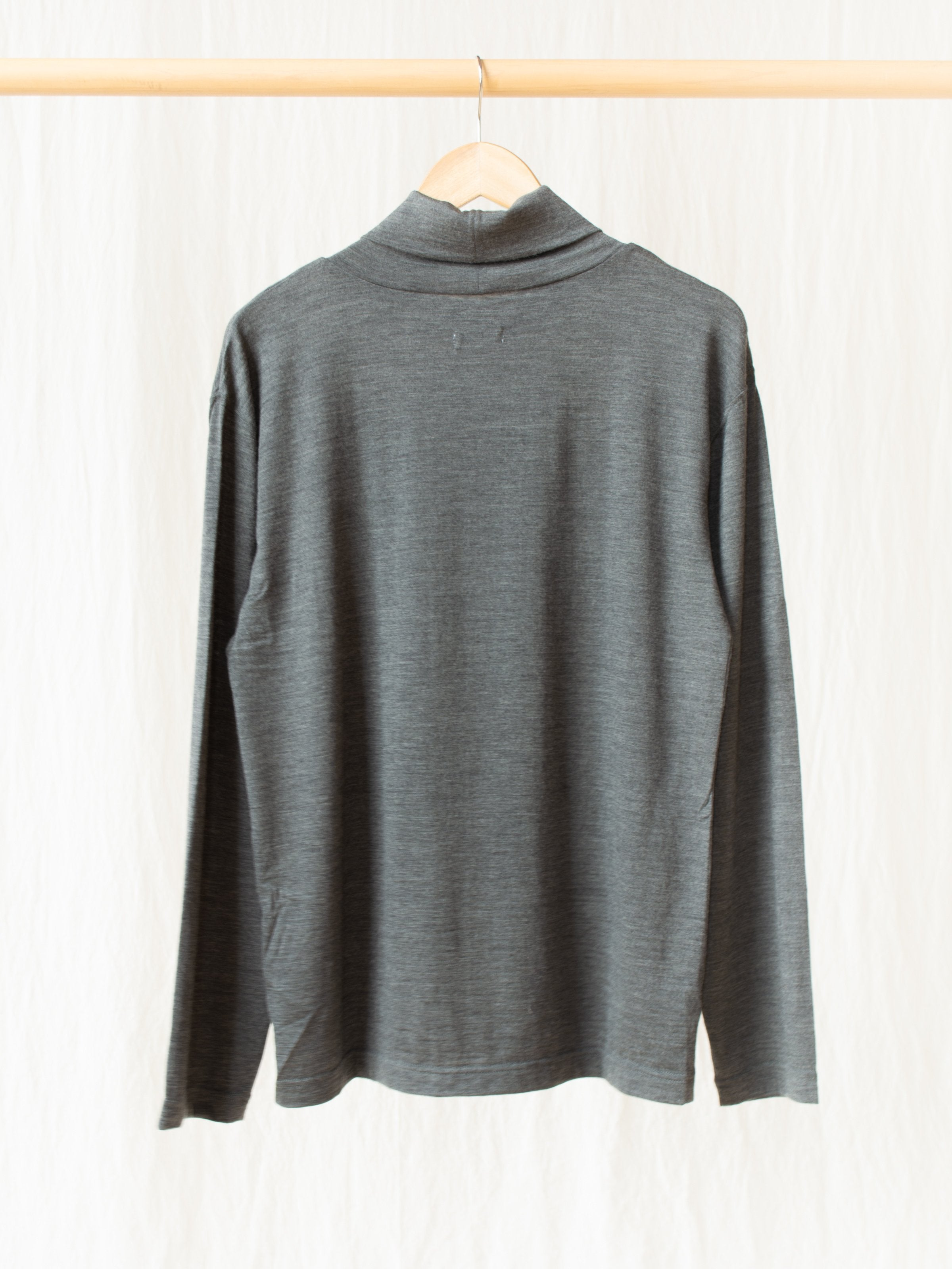 Namu Shop - ts(s) Washable High Gauge Wool Turtleneck - Gray