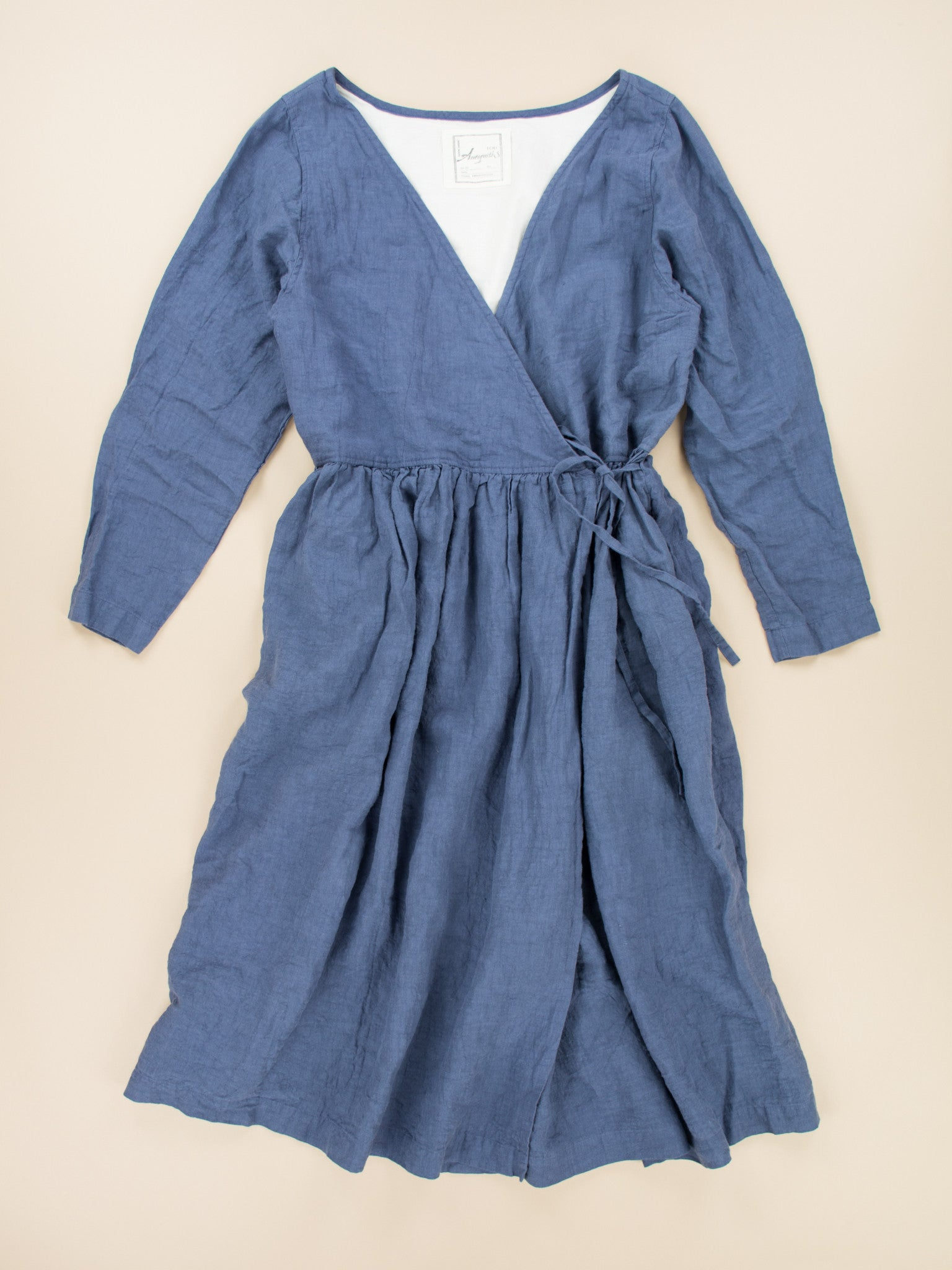 Namu Shop - Ichi Antiquites Linen Cache-Couer Dress