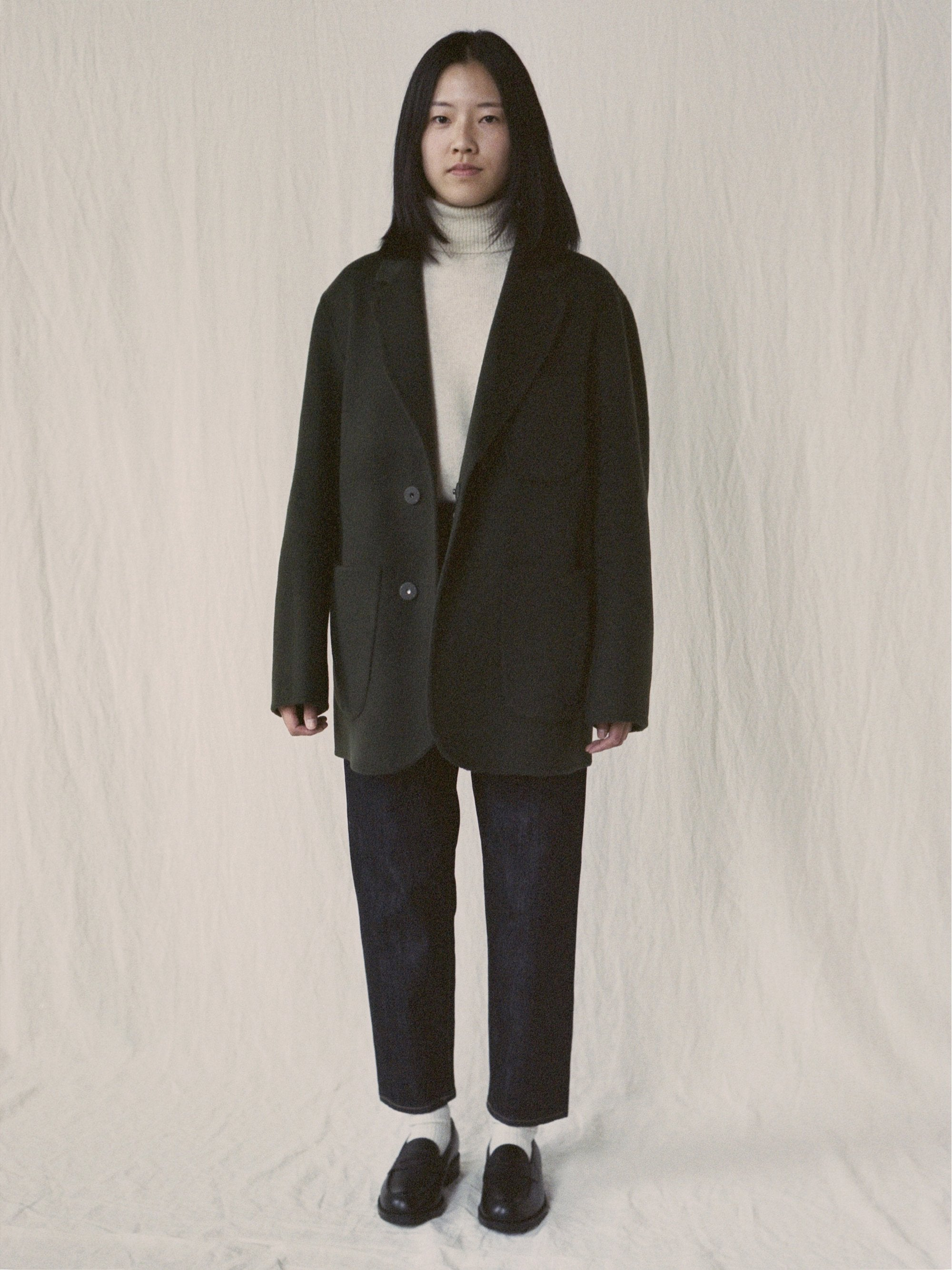 Namu Shop - Document Handmade Tailored Collar Jacket - Green