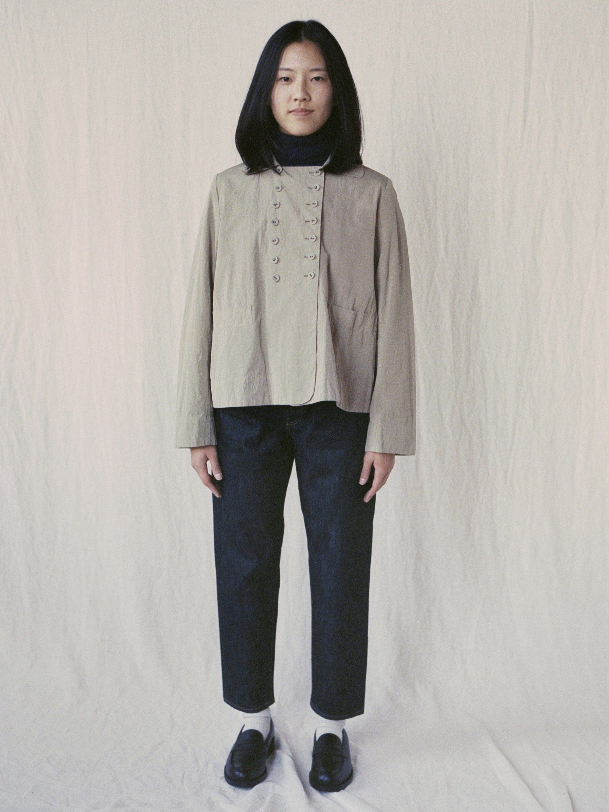 Typewriter Cotton Shirt Jacket