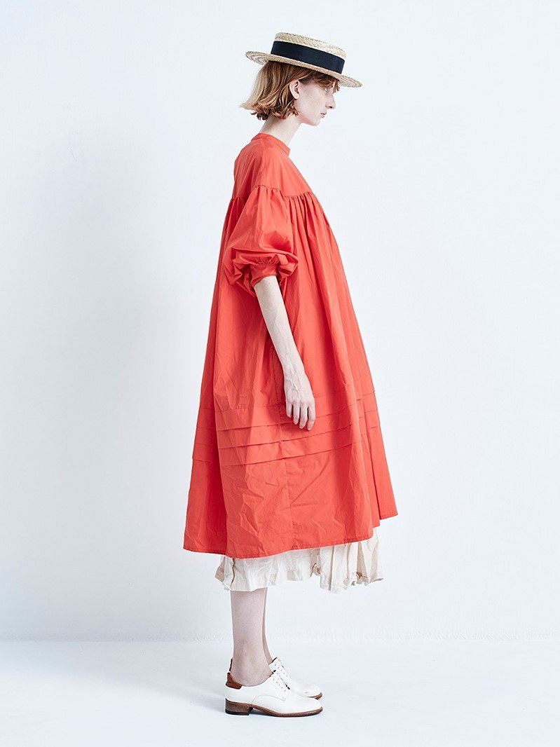 Namu Shop - Veritecoeur Gather Dress - Poppy