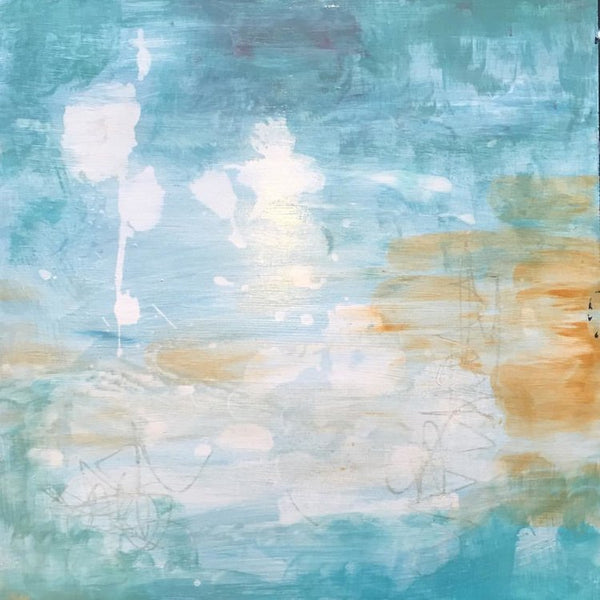 Healing Waters III, Abstract Painting by Mad Honey Studio