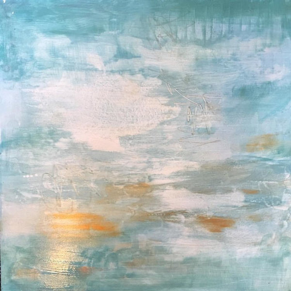 Healing Waters II, Abstract Painting by Mad Honey Studio