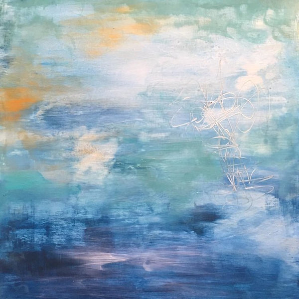 Healing Waters IV, Abstract Painting by Mad Honey Studio