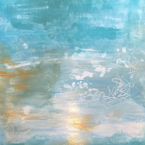 Healing Waters I, Abstract Painting by Mad Honey Studio