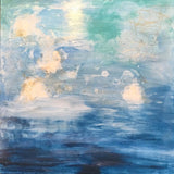 Healing Waters VI, Abstract Painting by Mad Honey Studio