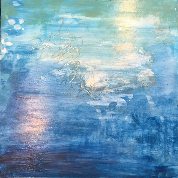 Healing Waters V, Abstract Painting by Mad Honey Studio