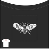 Back Logo on Mad Honey Cap Sleeve T-Shirt