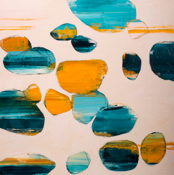 Orb I, Abstract Painting by Mad Honey Studio