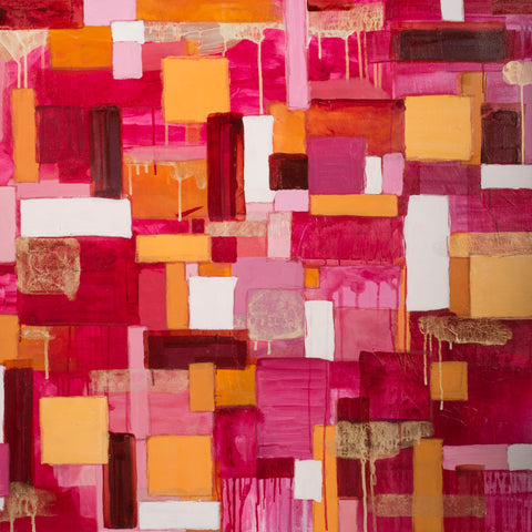 Pink, Abstract Painting by Mad Honey Studio