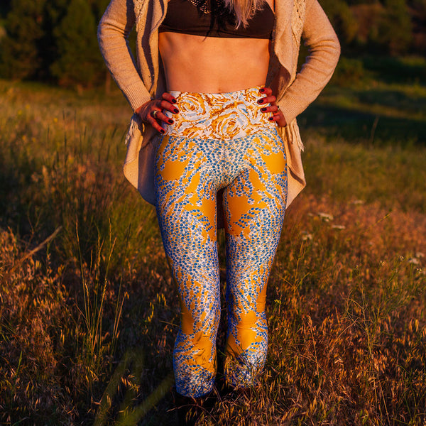 Pearl Veil Yoga Leggings by Mad Honey Studio
