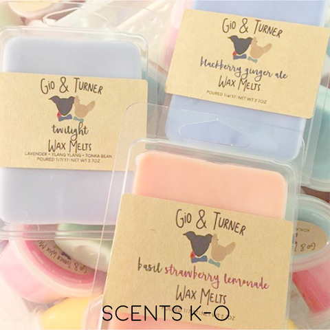 PREORDER | Wax Melt Clamshells (Scents K-O)
