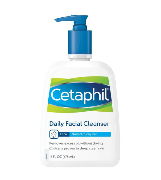 Cetaphil Daily Facial Cleanser, Normal to Oily Skin, 16 Ounce (2 Pack)