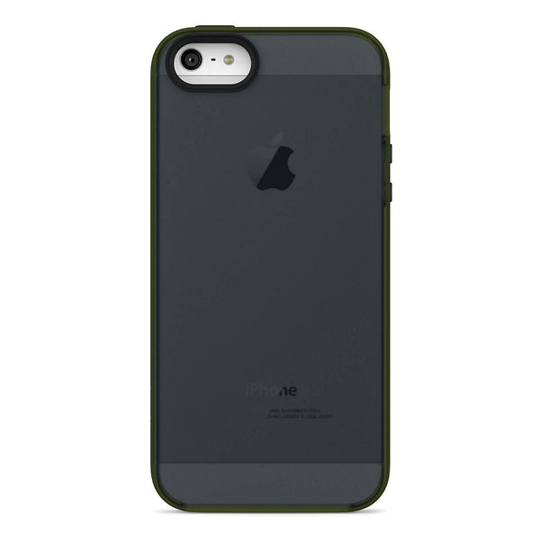 Belkin Grip Candy Sheer Case / Cover for iPhone 5 / 5S and iPhone SE (Black / Green)