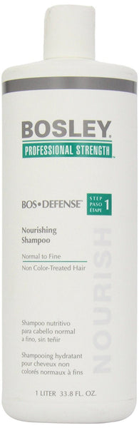 Bosley Bos-Defense Nourishing Shampoo Normal To Fine Non Color-Treated Hair, 33.8 Ounce