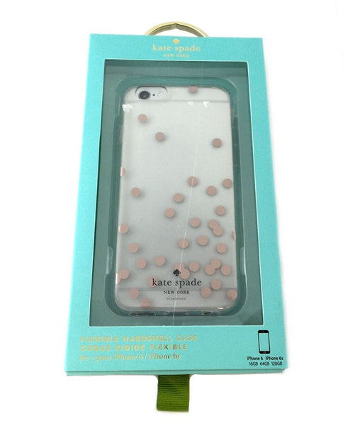 KATE SPADE NY Rose Gold (Dots) Clear Case iPhone 6/6s