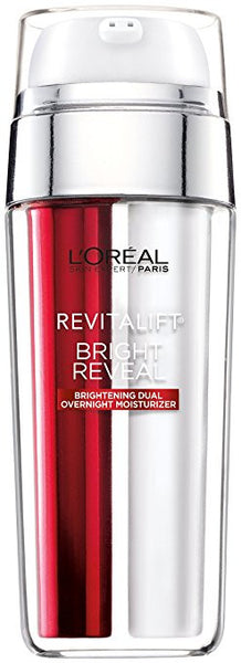 L'Oreal Paris Skin Care Revitalift Bright Reveal Dual Overnight Moisturizer, 1 Ounce