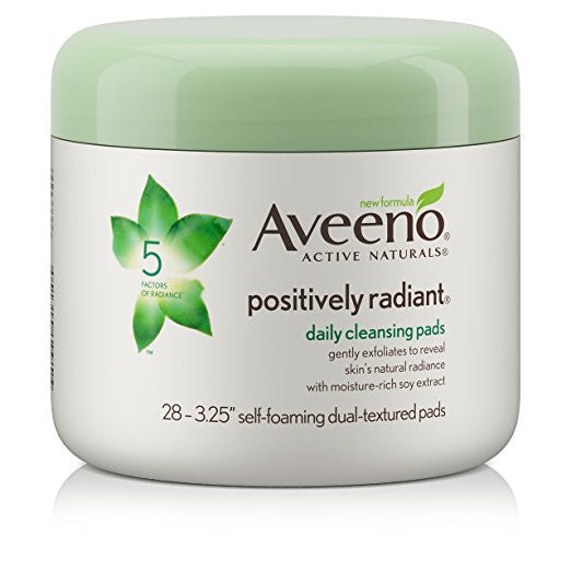 Aveeno Positively Radiant Exfoliating Daily Cleansing Pads, 28 Count