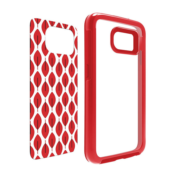 OtterBox My Symmetry Design Inserts 2 pack Scarlet Crystal w/ Fan Red, Grey Crystal w/ Fall Grid