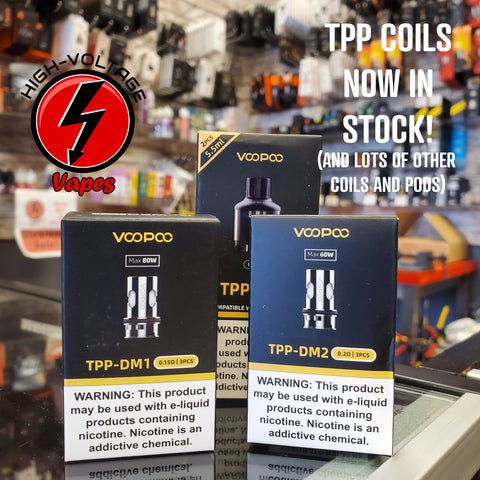 tpp coils are in stock now at hvvapes in aurora, co!