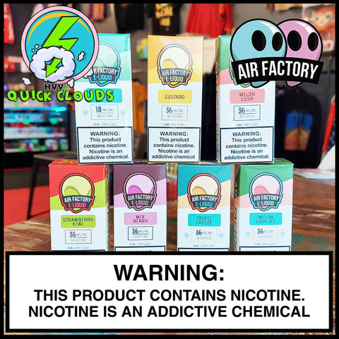 air factory nic salts near me in Aurora, CO: Quick Clouds Vape Shop & Delivery.