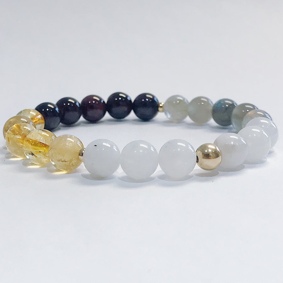 La Luna Moon Cycle Bracelet - Salt + Sage