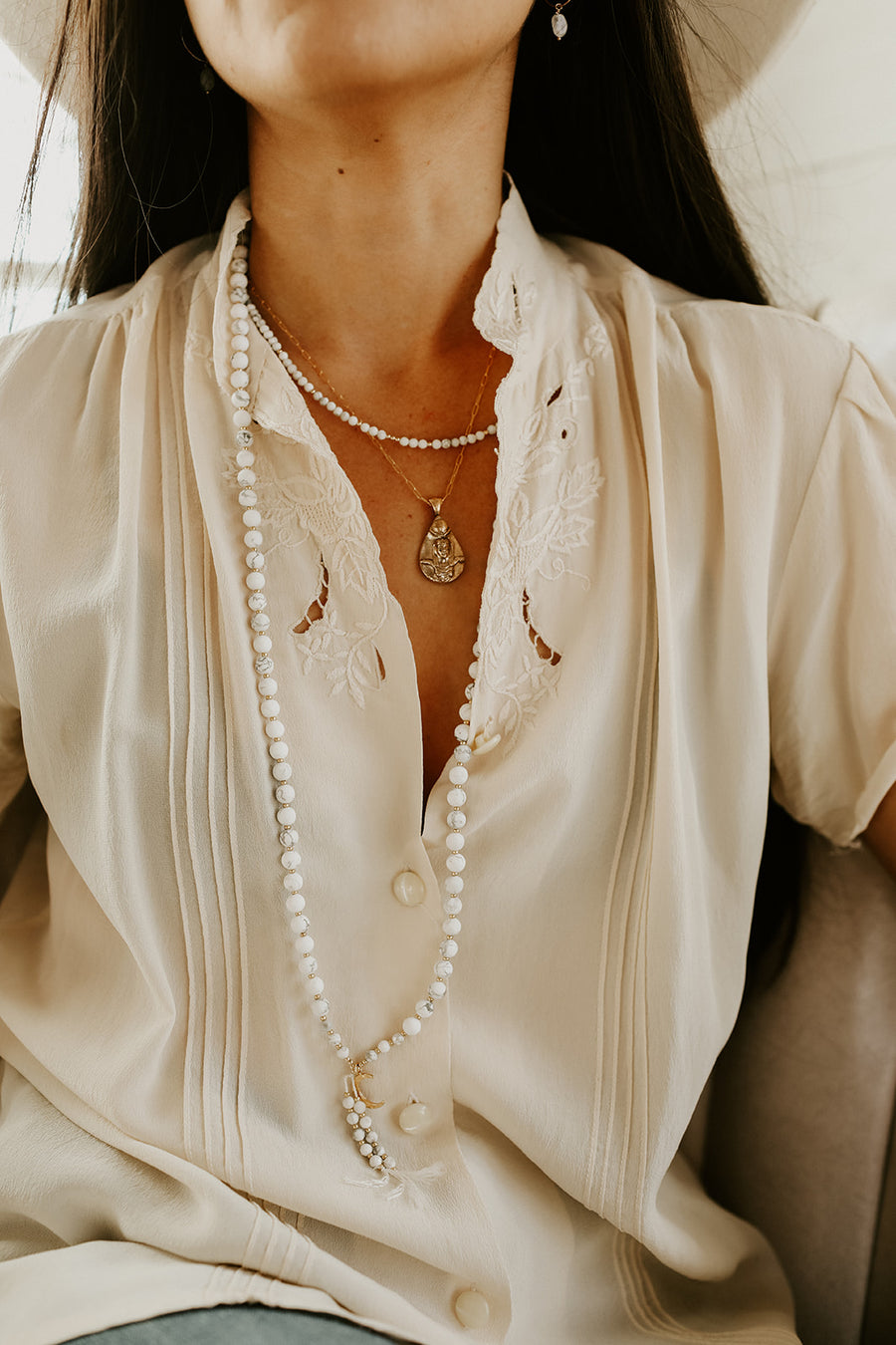 The Isis Necklace - Salt + Sage