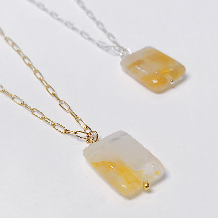 Citrine Talisman Necklace - Salt + Sage