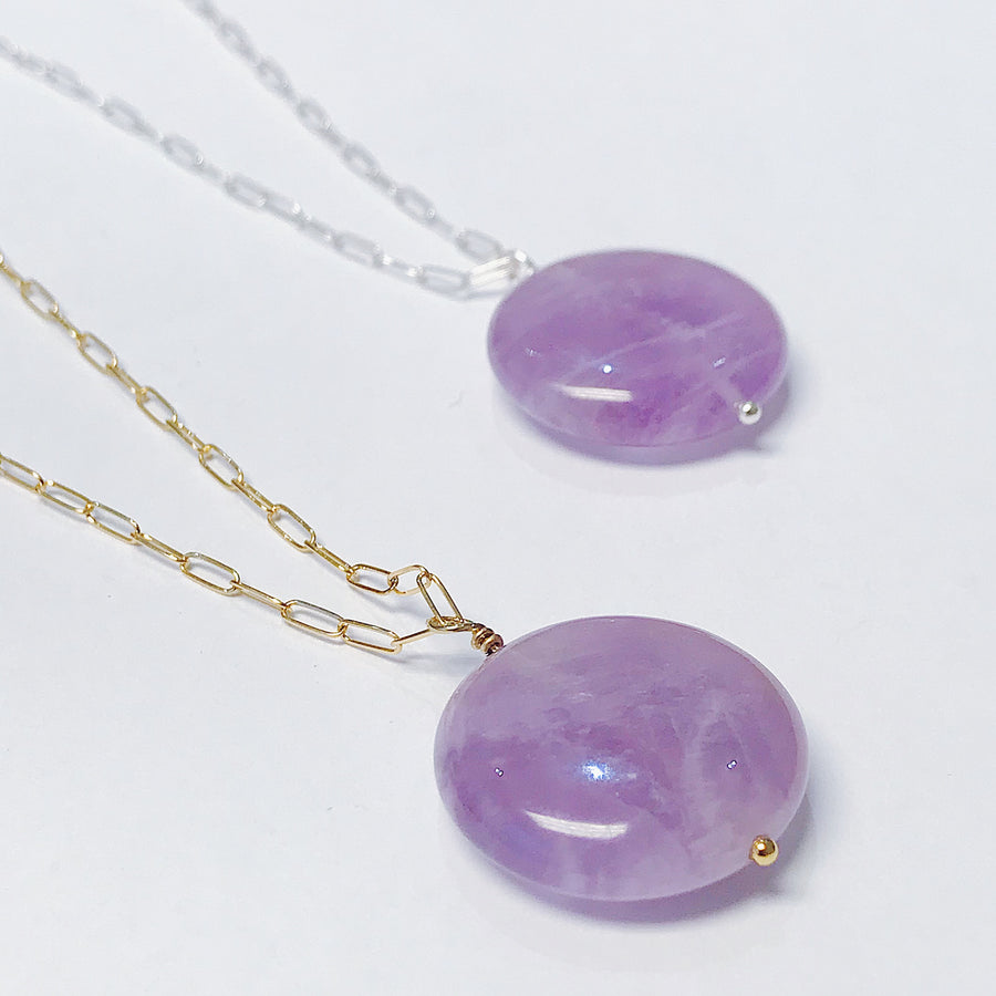 Amethyst Talisman Necklace - Salt + Sage