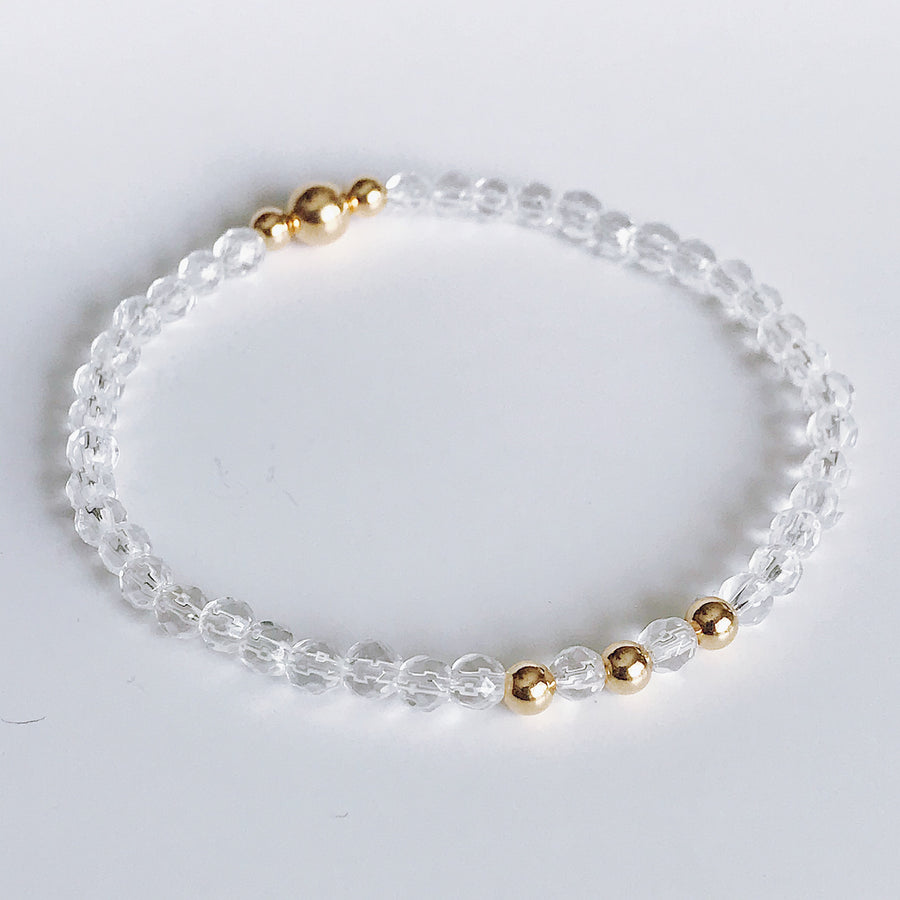 Clear Quartz Illumination Bracelet - Salt + Sage