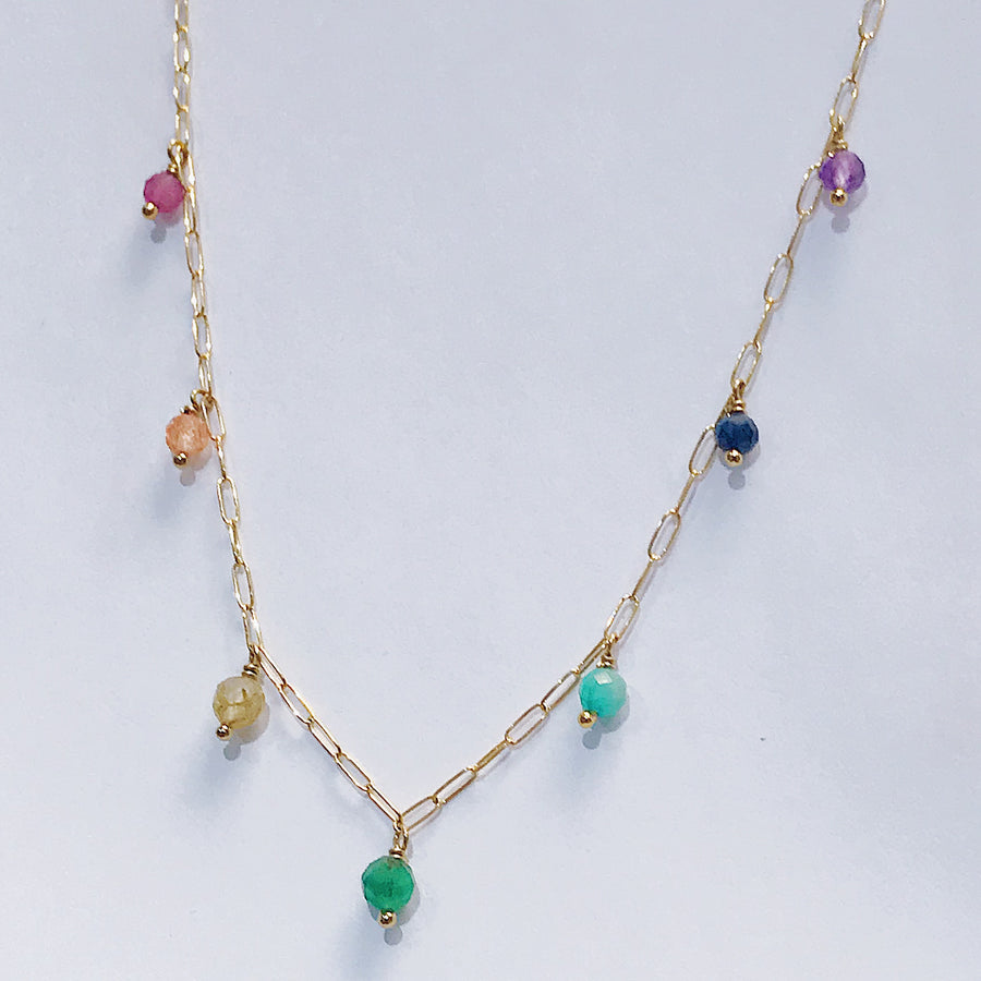 Chakra Drop Necklace - Salt + Sage
