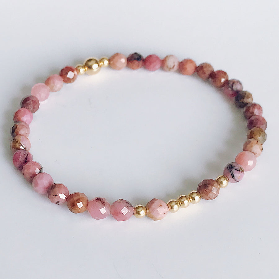 Rhodonite Illumination Bracelet - Salt + Sage