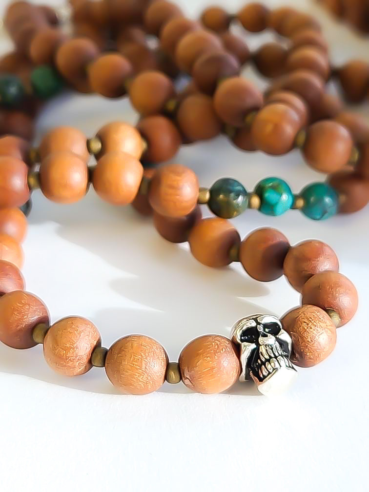 Mens Sandalwood Mala Necklace - Salt + Sage