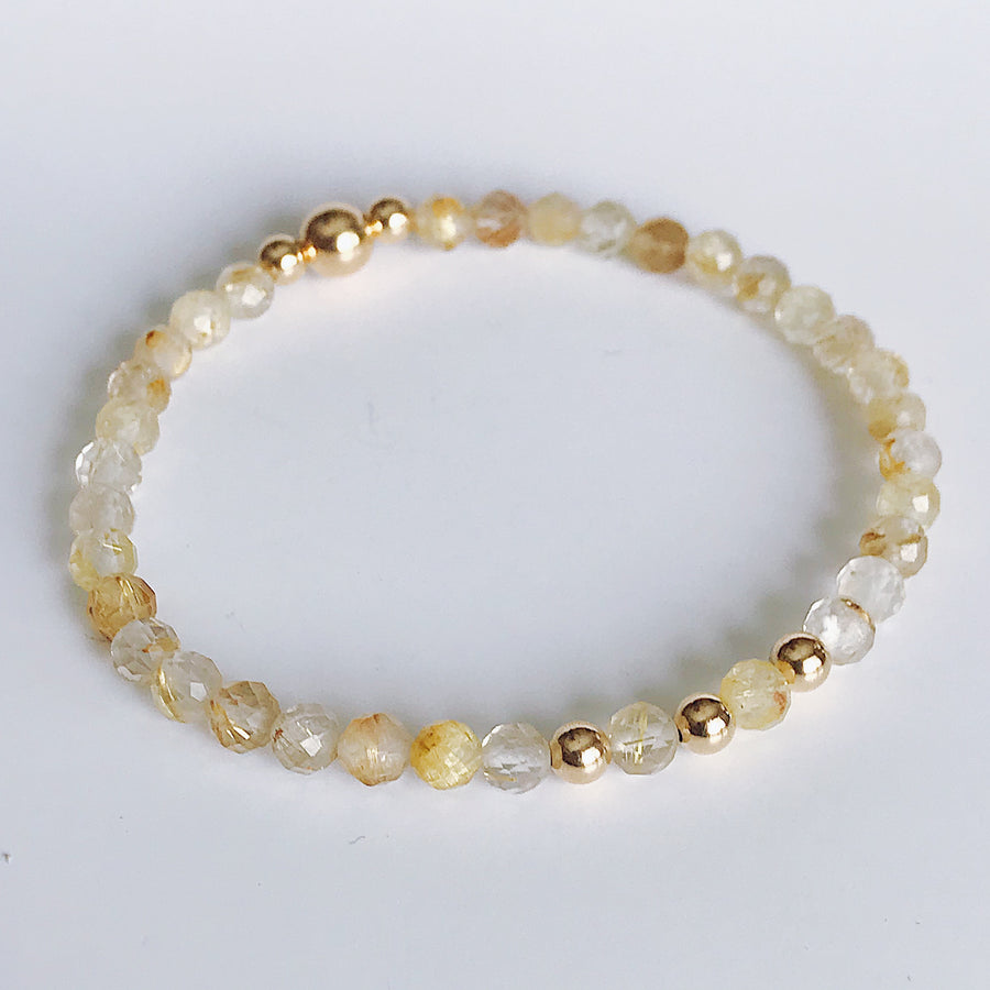 Rutilated Quartz Illumination Bracelet - Salt + Sage