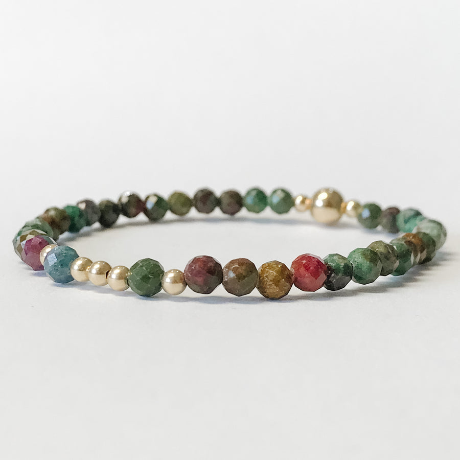 Ruby Fuchsite Illumination Bracelet - Salt + Sage
