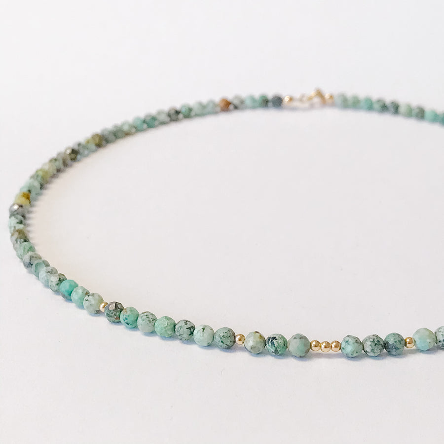 African Turquoise Layering Necklace - Salt + Sage