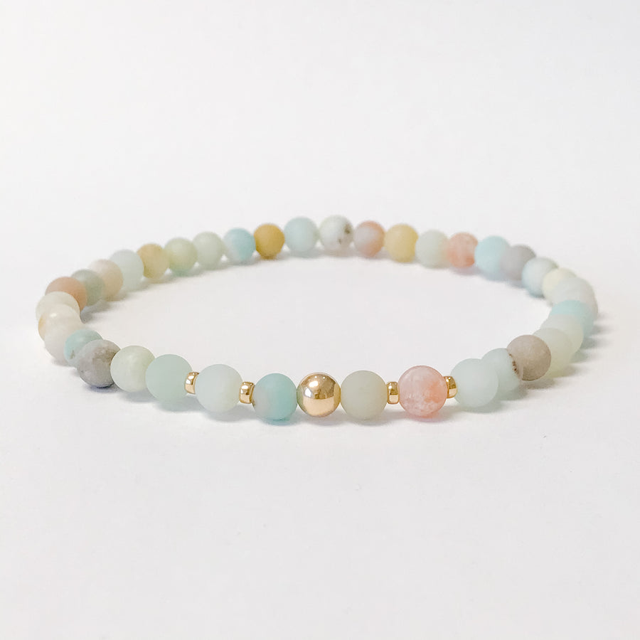 Amazonite Anklet - Salt + Sage